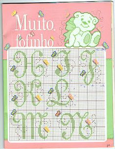 Girly, frilly, butterfly theme alphabet, page 2 of 4 #monogram #monograms #cross-stitch