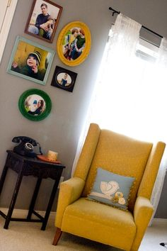painted frames, color combos, wall frames, front rooms, photo wall