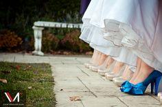 Bridal party, blue shoes