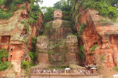 The Great Buddha, Lèshān (China). 'You can read all the stats you like about Lèshān's Great Buddha – yes, its ears  really are 7m long! – but until you descend the steps alongside the world's tallest Buddha  statue and stand beside its feet, with its toenails at the same level as your eyes, you can't really  comprehend just how massive it is.' http://www.lonelyplanet.com/china/sichuan/leshan