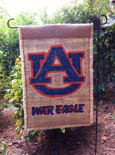 Auburn University War Eagle Burlap Garden Flag Collegiate Collection on Etsy, $28.00