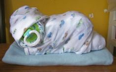 Adorable baby shower gift - put in diaper made bassinet