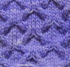 Telescope Lattice Stitch. - the weekly stitch