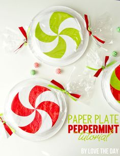 Chinet Paper Plate Peppermint Tutorial & Download by Love The Day