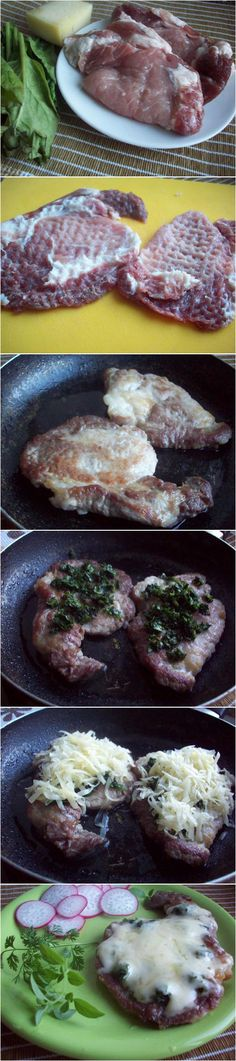Pork with Cheese and Spinach
