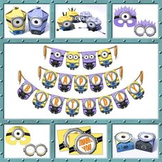 Despicable Me 2  Inspired MEGA Minion Printable Party by Shnookers, $35.00