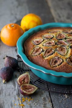 Orange & Anise Olive Oil Cake with Figs | www.siftandwhisk.com
