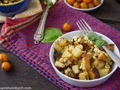 Corn and potato summer skillet salad [Vegan]