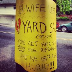 dirty laundry for sale #funny #yardsale