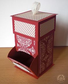 stampin up, candy dispenser box