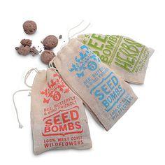 seed bombs, bags