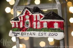 How to turn your home into a personalized Christmas ornament