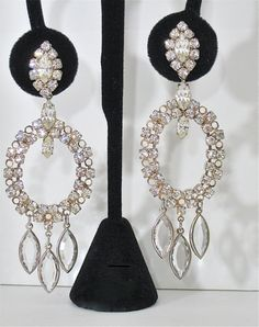 ON SALE Vintage Large Chandelier Earrings by NewToYouJewelry, $24.00