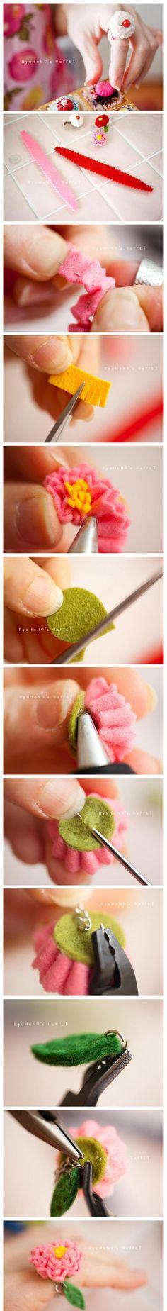 DIY a floral ring