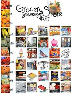 Printable Scavenger Hunt for the Grocery Store! Laminate and mark away!