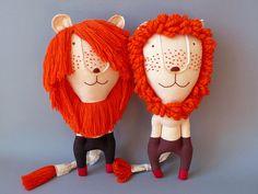 Mr. Lion Heart 98 Lion Plush Toy stuffed Doll Plushie by jipijipi