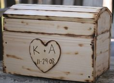 Rustic Wooden Wedding Card Box