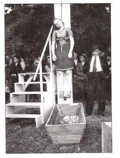 Public execution of Herta Kašparová. Czechoslovakia, 13.9.1946.