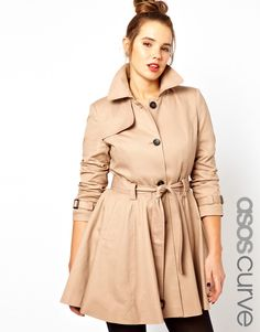 ASOS CURVE Fit & Flare Trench.
