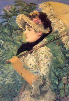 Spring (Study of Jeanne Demarsy) - Edouard Manet