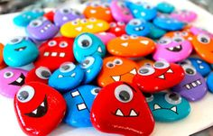 rock monsters pebble magnets
