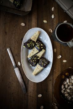 chocolate dipped pistachio shortbrea by Beth Kirby | {local milk}, via Flickr
