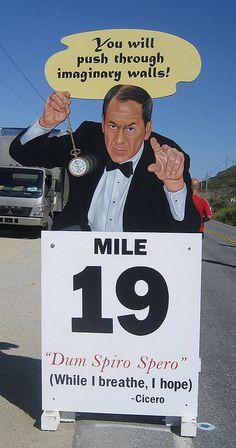 The Big Sur Marathon mile markers are genius.