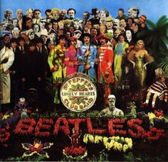 Who are all the people on The Beatles' Sgt Peppers Lonely Hearts Club Band album cover?