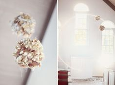 These fabric balls are adorable and rustic