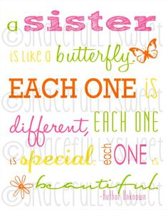 little girls, idea, subway art for sister, gifts, sister wall art, quot, friend, kid, girl rooms