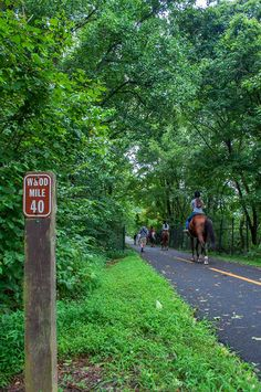 Washington  Old Dominion Trail - 40 miles reserved for hiking, biking and horse back riding