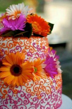 Purple and Orange Cake