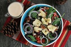 Apple Chip, Gorgonzola & Pecan Salad with Apple Cider Vinaigrette