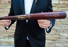 Buy a Louisville Slugger for your Groomsmen.  Custom engraved ... this is a one of kind gift that they will not forget!  Buy yours today at SportsThemedWeddings.com. #baseballwedding #themedwedding #stwdotcom