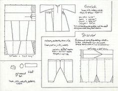 gomlek pattern | shalvargomlek (V_M_G) Tags: costume pattern sca craft turkish gomlek ...