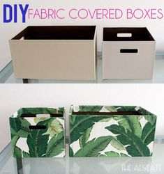 DIY: Fabric covered boxes theaestate.com