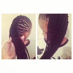 New protective style I did on Miss A :)