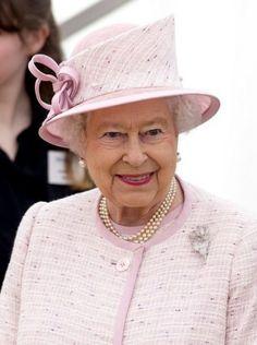 Queen Elizabeth, April 30, 2014 in Angela Kelly   Royal Hats