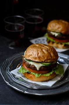 beef chorizo burger + jalapeno-mayo sauce.