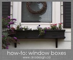 how to window boxes