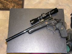 Thompson Center Contender with 7-30 Waters barrel complete with muzzle break....very fun to shoot!!