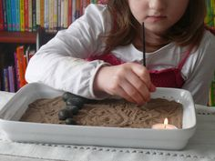Make a mini zen garden for your children!