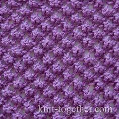 Boucle Lace Pattern, knitting pattern chart, Eyelet and Lace Stitch Patterns