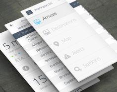 MetroLite App. Minimal. Clean. Grey  White. Simplify. Typo. Flat Design. Beautiful.