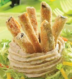 Bastones de berenjena #receta #vegetariana