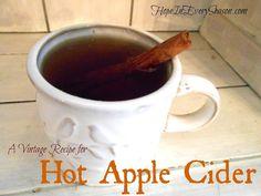 Vintage Hot Apple Cider #HarvestFun #shop #cbias