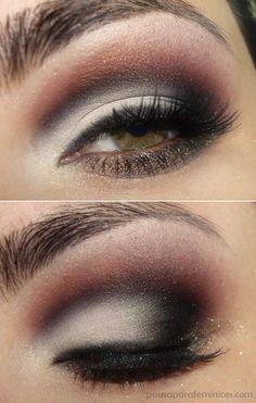 Maquiagem cut crease com sombras da coleção Pausa para Feminices