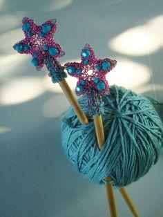 Crocheted Wire Starfish Serenade Hair Sticks in Pink. $80.00, via Etsy.