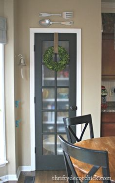 Pantry door idea? The black would work well with dining chairs..