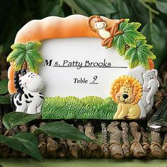 You'll get a roar of approval with these Jungle Critters Collection picture frames as your favors. No monkey business here – kids love the jungle theme! And, whether it's for a birthday party, baby shower, Christening or any other event, kids, and kids at heart, are sure to love these Jungle Critters Collection picture frames.